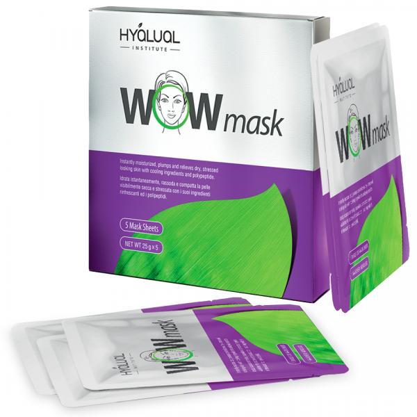 Гидрогелевая маска Гиалуаль Hyalual® WOW mask 5 штук в упаковке  картинка