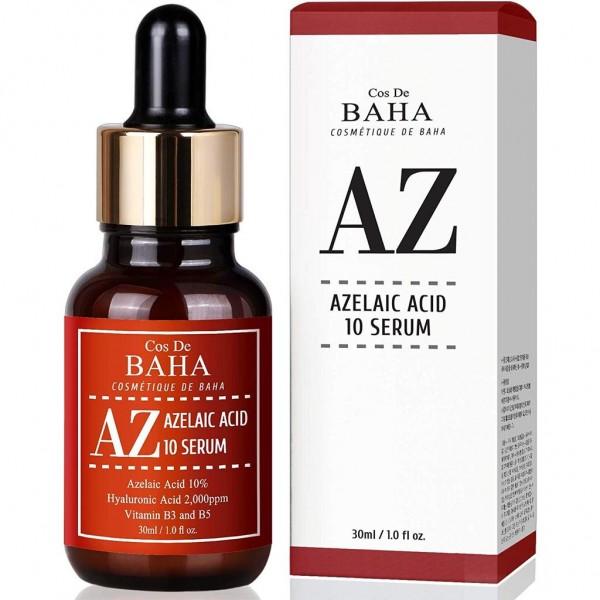 Сыворотка с азелаиновой кислотой для борьбы с акне и куперозом Cos de Baha Azelaic Acid 10% Serum, 30 мл картинка