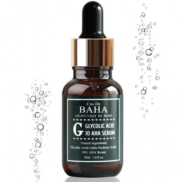 Сыворотка с гликолевой кислотой Cos de Baha 10% Glycolic Serum Gel Peel AHA, 30 мл картинка
