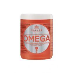 Маска для восстановления безжизненных волос с малом макадамии Kallos Омега-6