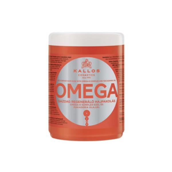 Маска для восстановления безжизненных волос с малом макадамии Kallos Омега-6 изображение