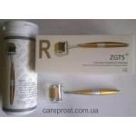 Мезороллер ZGTS Gold позолоченные титановые иглы длиной 1 мм картинка 1