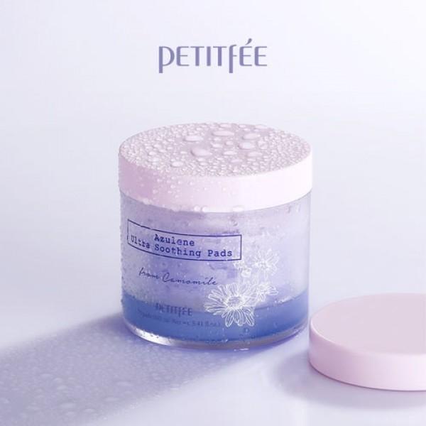 Ультра-увлажняющие подушечки PETITFEE Azulene Ultra Soothing Pads 70шт картинка