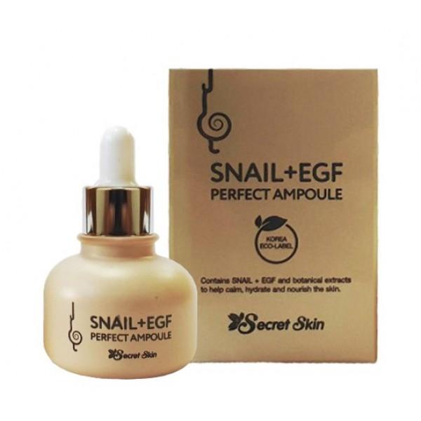Сыворотка для лица с муцином улитки Secret Skin Snail+EGF Perfect Ampoule картинка