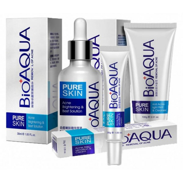 Набор для проблемной кожи Pure Skin Анти-акне, BIOAQUA, 3шт картинка