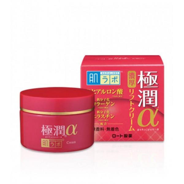 Антивозрастной гиалуроновый лифтинг крем HADA LABO Gokujyun Lifting Alpha Cream  картинка