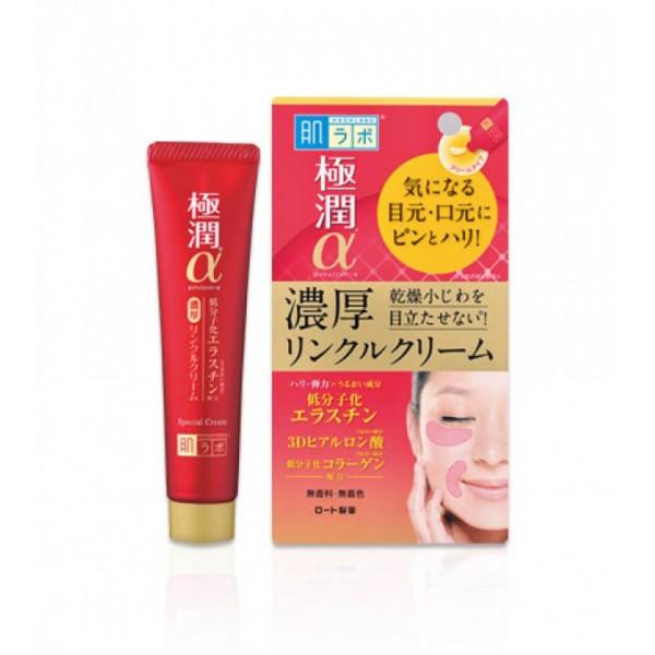 Лифтинг крем-концентрат для глаз и носогубных складок HADA LABO Gokujyun Alpha Special Wrinkle Cream 30g картинка