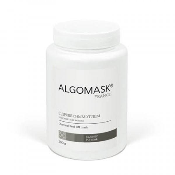 С ДРЕВЕСНЫМ УГЛЕМ альгинатная маска для лица ALGOMASK, 200 г   картинка