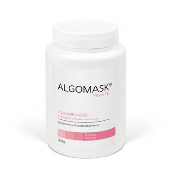 С ЗЕМЛЯНИКОЙ шейкерная альгинатная маска, ALGOMASK, 200 г   картинка