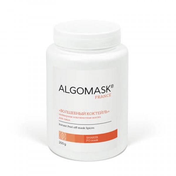 «ВОЛШЕБНЫЙ КОКТЕЙЛЬ» шейкерная альгинатная маска для лица ALGOMASK, 200 г   картинка