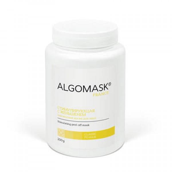 СТИМУЛИРУЮЩАЯ С ЖЕНЬШЕНЕМ альгинатная маска для лица ALGOMASK, 200 г   картинка
