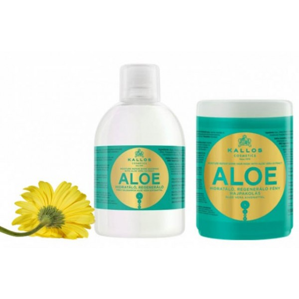 Набор «Kallos Aloe» (Венгрия) для восстановления блеска волос 2000 мл. картинка