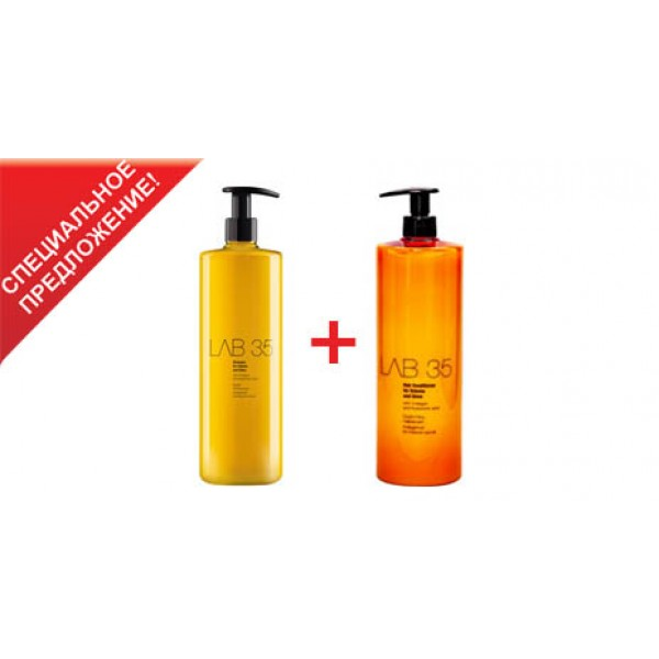 Lab35 Shampoo for Volume and Gloss Шампунь+кондиционер для объема и блеска картинка