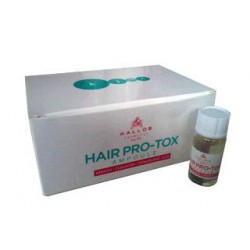 Ампулы Pro-tox для волос с кератином, коллагеном и гиалуроновой кислотой Kallos