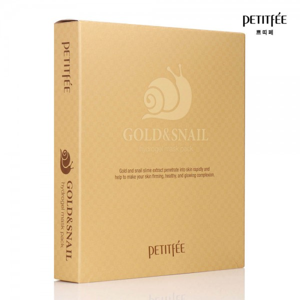 Гидрогелевая маска для лица PETITFEE Gold & Snail Hydrogel Mask картинка