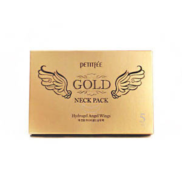"Гидрогелевая маска для шеи   PETITFEE ""HYDROGEL ANGEL WINGS"" Gold Neck Pack"