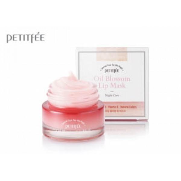 Ночная маска  для губ с маслом камелии и витамином Е PETITFEE Oil Blossom Lip Mask 15g