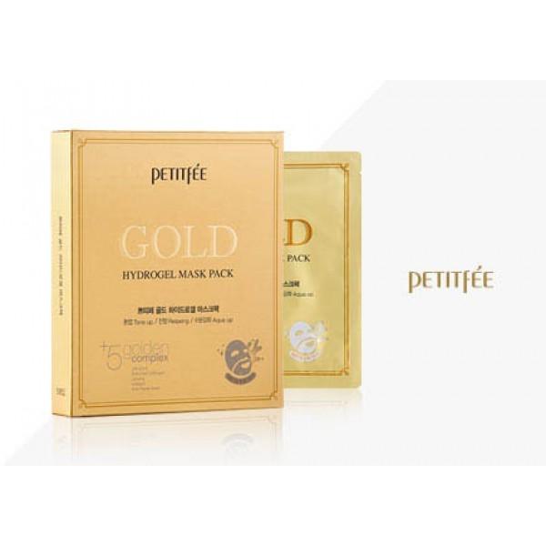 Гидрогелевая маска для лица с золотым комплексом Petitfee&Koelf Gold Hydrogel Mask Pack +5 golden complex картинка