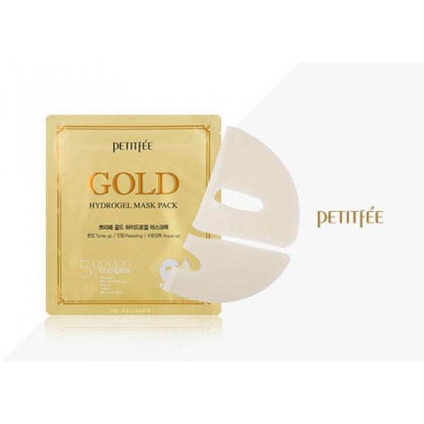 Гидрогелевая маска для лица с золотомым комплексом +5 PETITFEE Gold Hydrogel Mask Pack 1 шт картинка