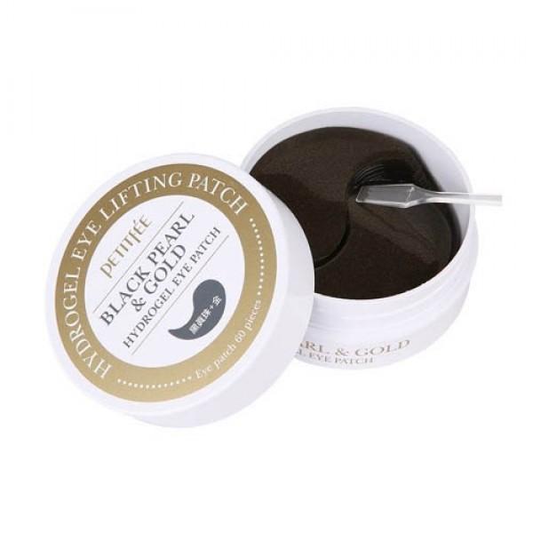 Гидрогелевые патчи для глаз PETITFEE Black Pearl & Gold Hydrogel Eye Patch картинка