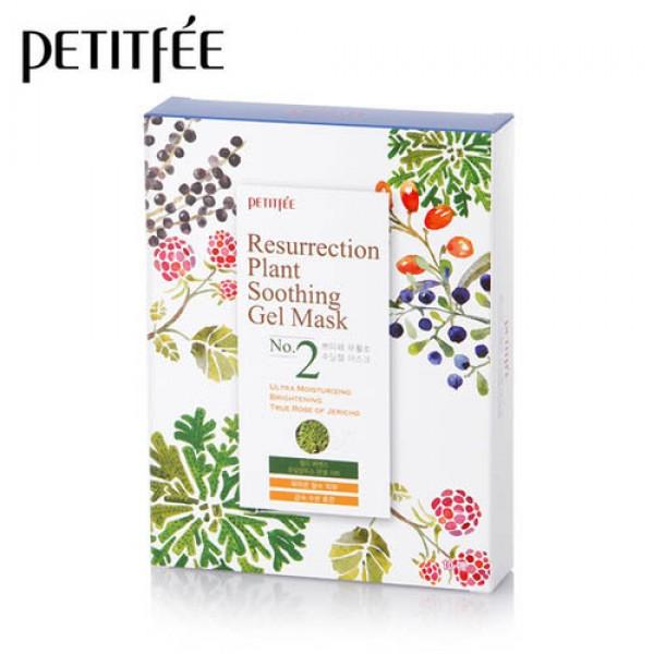 Увлажняющая маска для лица PETITFEE Resurrection Plant Soothing Gel Mask - 10 штук картинка