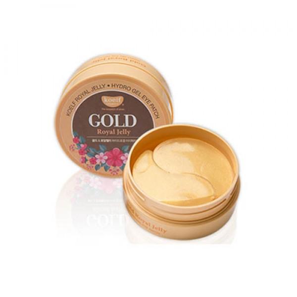 Гидрогелевые патчи для глаз с золотом KOELF Gold & Royal Jelly Eye Patch, 60 шт картинка