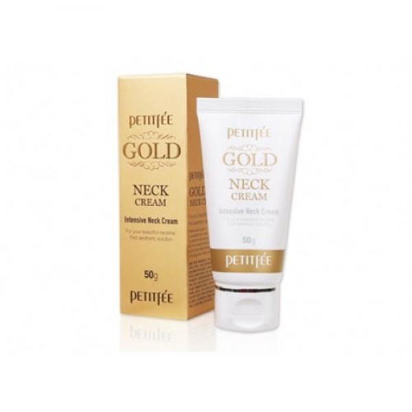 Крем для шеи и декольте с золотом  Petitfee Gold Neck Cream картинка