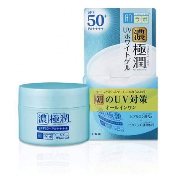 Солнцезащитный гиалуроновый гель для лица HADA LABO Koi-Gokujyun UV White Gel SPF50+ PA++++ картинка