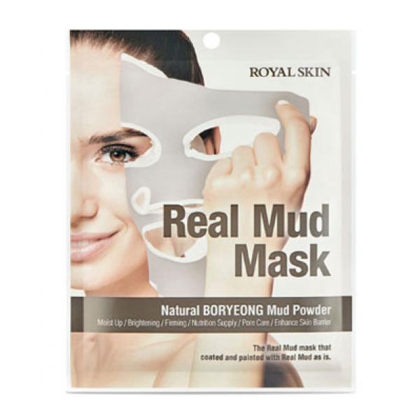 Маска для лица с натуральной глиной Royal Skin Real Mud Mask 1шт картинка