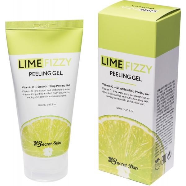 Пилинг-скатка с экстрактом лайма и витамином С Secret Skin Lime Fizzy Peeling Gel картинка